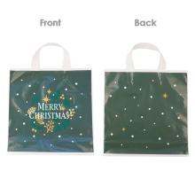 Weihnachtsgrüne dünne Plastiktüten