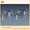 Glas/Kunststoff Petrischale für Labor, Krankenhaus verwenden