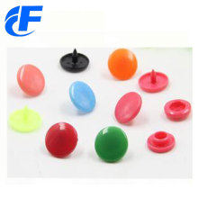 Colorful four parts plastic snap button for bags