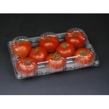Caja de plástico personalizada para frutas (bandeja clara para alimentos)