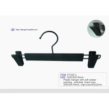 Promotion Wholesale Plastic Black Pant Hanger with Clip