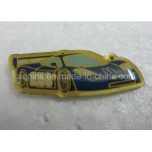 Insigne de badge imprimé imprimé à bas prix en acier inoxydable à faible coût (badge-109)