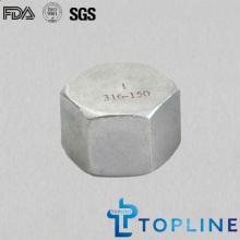 Tapa de cabeza hexagonal de acero inoxidable ((racores de tubería roscados)