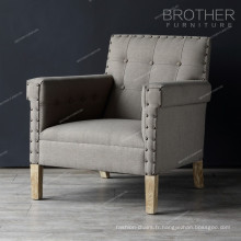 Sofa rembourré de sofa de chaise de sofa de chaises de chambre à coucher paresseux