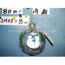 decoración de mármol de bola de vidrio