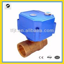 Válvulas motorizadas de HVAC 3-6VDC de 2 vías para control automático