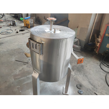 gas boiler space saving sprial plate heat exchanger