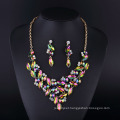 Fashion Silver Plated Colorful Crystal Diamond Lady′s Necklace