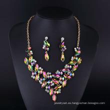 Collar plateado plata de moda de la señora del diamante cristalino de la manera