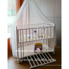 Filet de moustiquaires pour bébés toile jacquard canopée bébé moustiquaire pour DRKMN