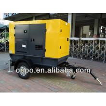 50hz diesel conjunto gerador com cummins motor trolley / trailer tipo aberto / silencioso tipo