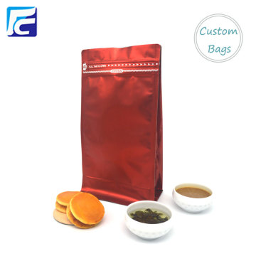 1KG Matt Flat Bottom Zipper Coffee Pouch