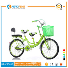 double seats road bicycles with basket