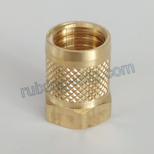 CNC Turning Machining Brass Coupling