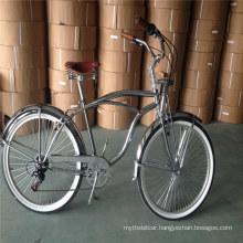 "Spring Fork Chrome Vintage Adult Mens Beach Cruiser Bike 26"""