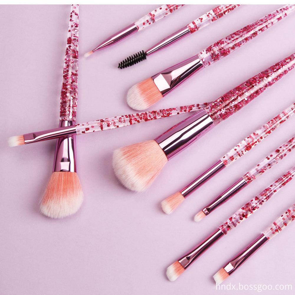 Crystal Rhinestone Makeup Brushes Set 7