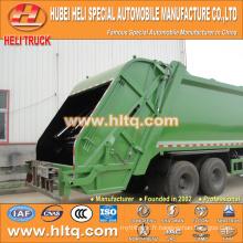 DONGFENG 6x4 16/20 m3 camion de compression à ordures lourdes moteur diesel 210hp avec mécanisme de pressage