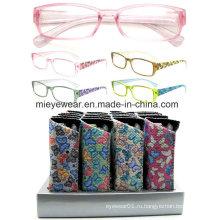 Дамы моды пластиковые очки чтения (MRP21680)