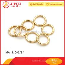 Высокое качество золота утюг кольцо для брелок