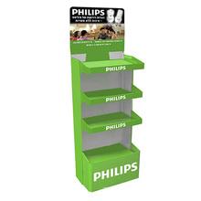 4-Tier Corrugated Cardboard Floor Display Racks