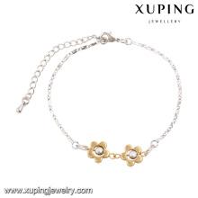 74375 moda elegante duas pedras duas flor mulheres imitação jóias pulseira