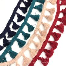 Разноцветная тесьма с кисточками 3см