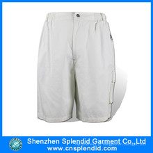 Venda Por Atacado Sportswear Twill Cargo Six Pocket Branco Bermuda Shorts