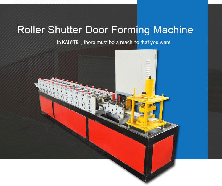 rolling shutter door machine