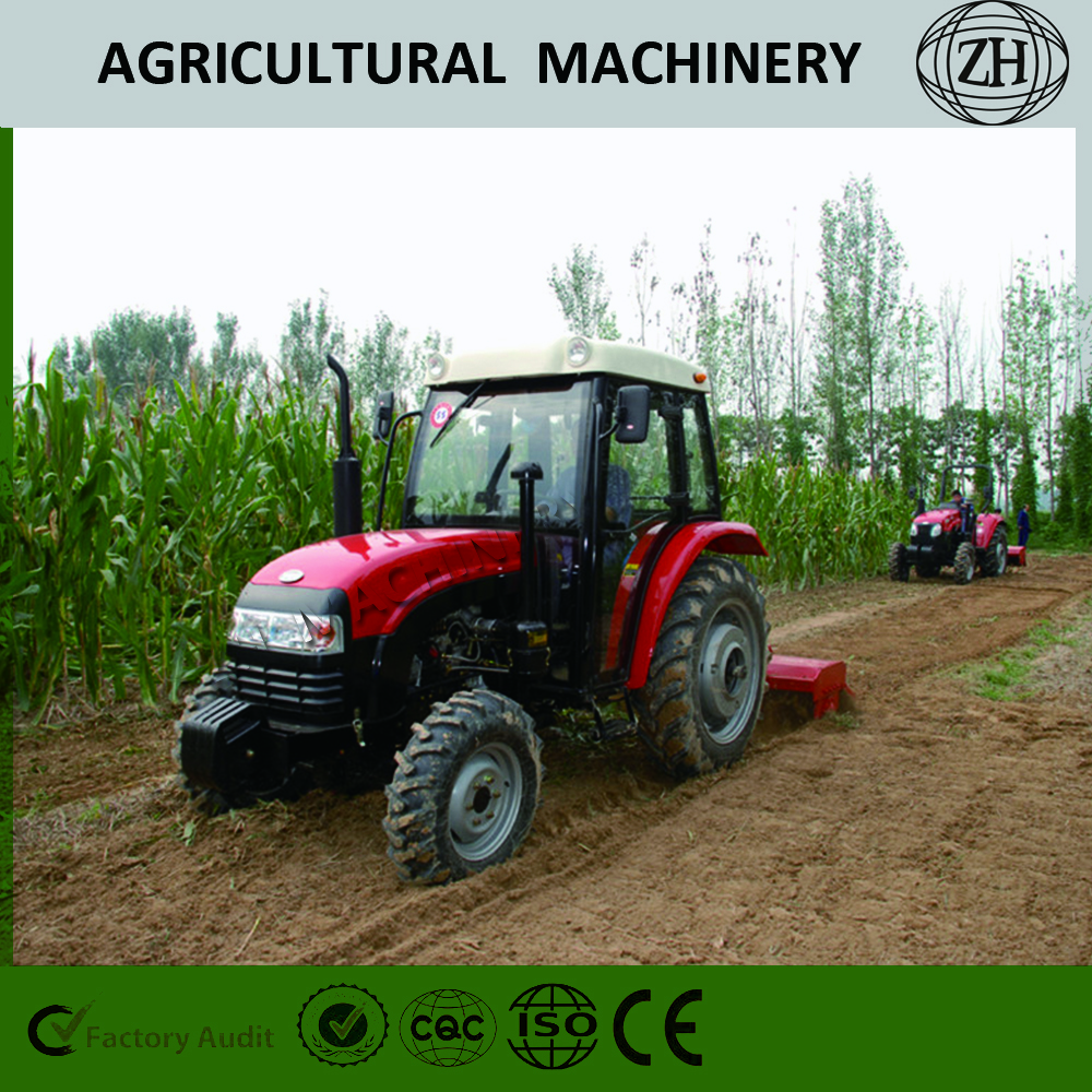 4 Cylinder 35HP 2WD Tractor Machinery in Red