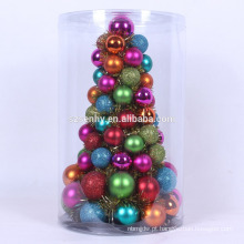 mini árvore de natal viva pré-decorada colorida