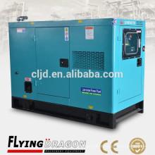 Super insonorizado, pequeno uso doméstico generador diesel silencioso preço 24kw 30kva alternador gerador barato com motor cummins