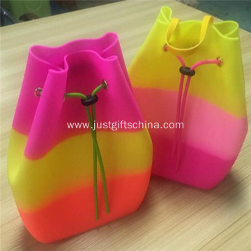 Promotional Candy Colors Silicone Backpack Bag for Kids