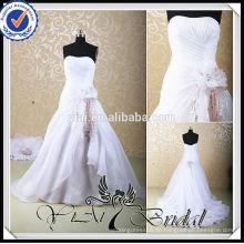 RSW456 Großhandelsrosa und weiße Hochzeits-Kleider mit abnehmbarem Zug