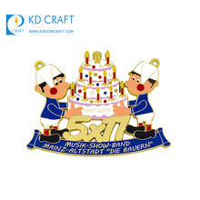 Cheap promotional custom metal colorful enamel anime cartoon character birthday souvenir kids medal