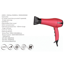 Secador de cabelo DC com pentes de dedo para uso profissional