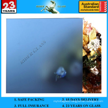 3-12mm Dark Blue Acid Etched Frosted Glass with AS/NZS2208: 1996