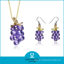 Vogue Purple Silver Jewellery Set with Cheap Price (J-0151)