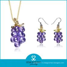 Vogue Фиолетовый Серебряный набор ювелирных изделий с дешевой цене (J-0151)