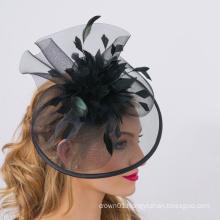 Black Elegant Horse Hair Mesh Base Isla Fascinator For Ladies Kentucky Derby
