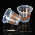 180 ml individuelles Logo bedruckt Thermoforming PP Einweg-Wassertassen aus Kunststoff