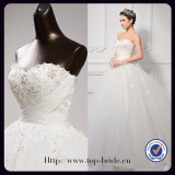 S613 Real Romantic Princess Ball Gown Wedding Dress With Sweetheart Neckline