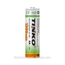 confiable 1.2v aa ni-mh batería recargable madei n grande la fábrica shenzhen