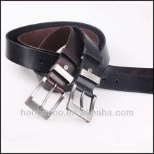 Классический мужской пояс / черный натуральная кожа ремень / покрытый пряжкой HM-1044