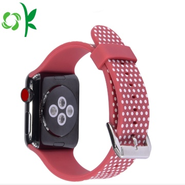 3D Präglade Silikon Watch Bands för Apple Watch