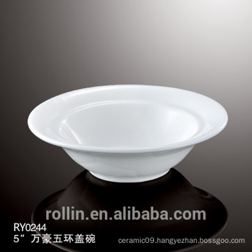 Ceramic white soup bowl,white porcelain salad bowl,good quality bowl