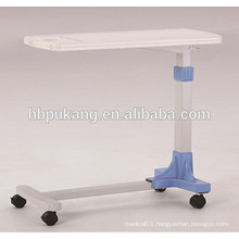 2016 F-33 ABS hospital movable over bed table, hospital bed dining table, hospital food tray, medical tables