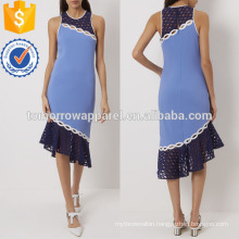 Bright Blue Racer Back Dress Manufacture Wholesale Fashion Women Apparel (TA4061D)