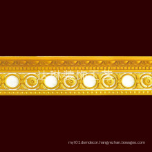 W (13+11) Cm Gorgeous Golden Color Cornice Mould Factory Price