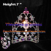 7 polegadas AB cristal diamante concurso coroas