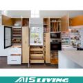 Gabinete de almacenamiento brillante europeo Muebles de gabinete de cocina de acabado de melamina (AIS-K986)